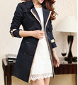 Women Slim Fit Long Trench Coat Black Khaki Spring Autumn Winter Womens Double Breasted Trench Coat With Belt XXXL