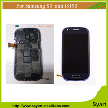 Blau für samsung galaxy s3 mini i8190 lcd touch display mit digitizer + anzeigetafel-feld + kostenlose tools, freies verschiffen