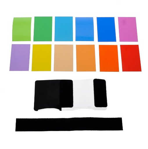 12 cái Phổ Speedlite Color Filter Kit cho Máy Ảnh Flash Đèn Bóng Râm Flash Màu Thẻ Cho Canon Nikon Sony Pentax