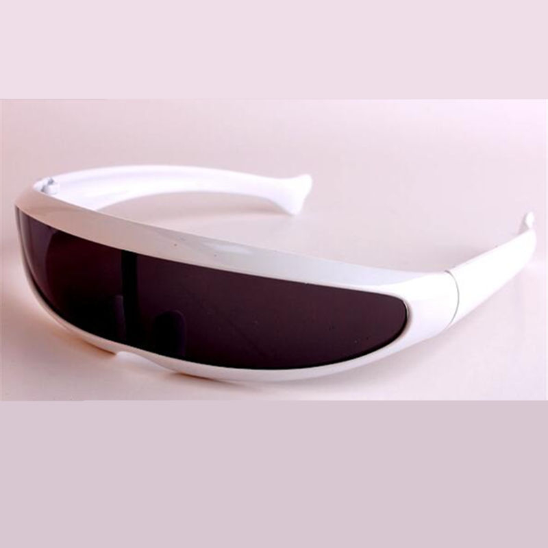 JAXIN personality sunglasses men robot silver lens fashion laser ladies sunglasses sports travel driving goggles glasses UV400 in Men 39 s Sunglasses from Apparel Accessories