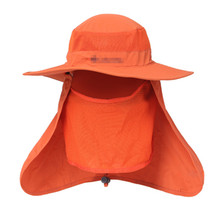 Outdoor Quick Drying Fishing Hats Large Round Brim fishing cap Sun Block Anti-UV Mosquito hat Sun Cap for fishing cap