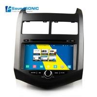 Android 4,4 автомобильный мультимедиа для Chevrolet Aveo Sonic сенсорный экран Радио DVD gps навигация Sat навигатор Аудио Видео S160 система