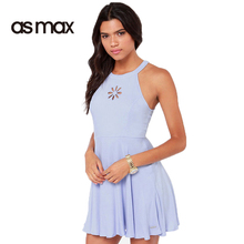 asmax 2017 Basic Women Mini Dress Sleeveless O-neck A-line Female Dress Solid Color Sweat Casual Loose Ladies Elegant Dress