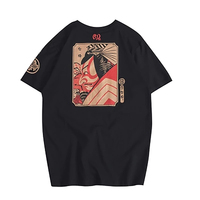 Vintage Tee Men Jersey Men Short Sleeves Male Clothing Japanese Traditional Style Graphic Tees Men Hanukkah 40DT008