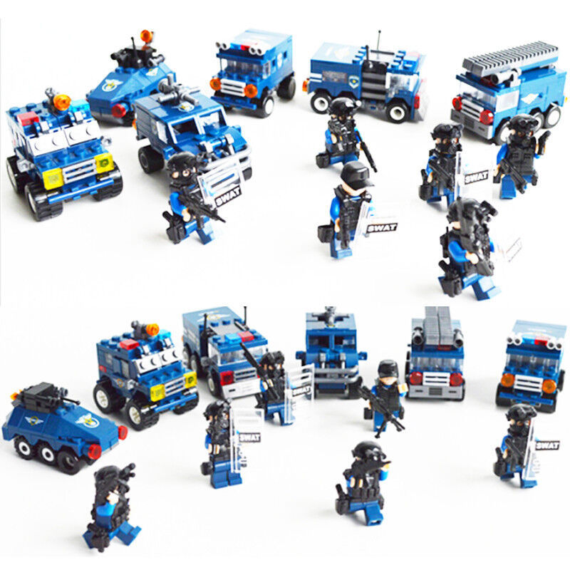 Hard-Working 6pca/set Military Educational Building Blocks Toys For Children Gifts Army Cars Compatible With Legoingly Weapon Model Building