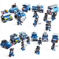 6pca/set Military Educational Building Blocks Toys For Children Gifts Army Cars Compatible With Legoingly Weapon