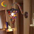 [Augustine] Continental retro single head bedside lamp night light minimalist mirror front home living room wall lamp