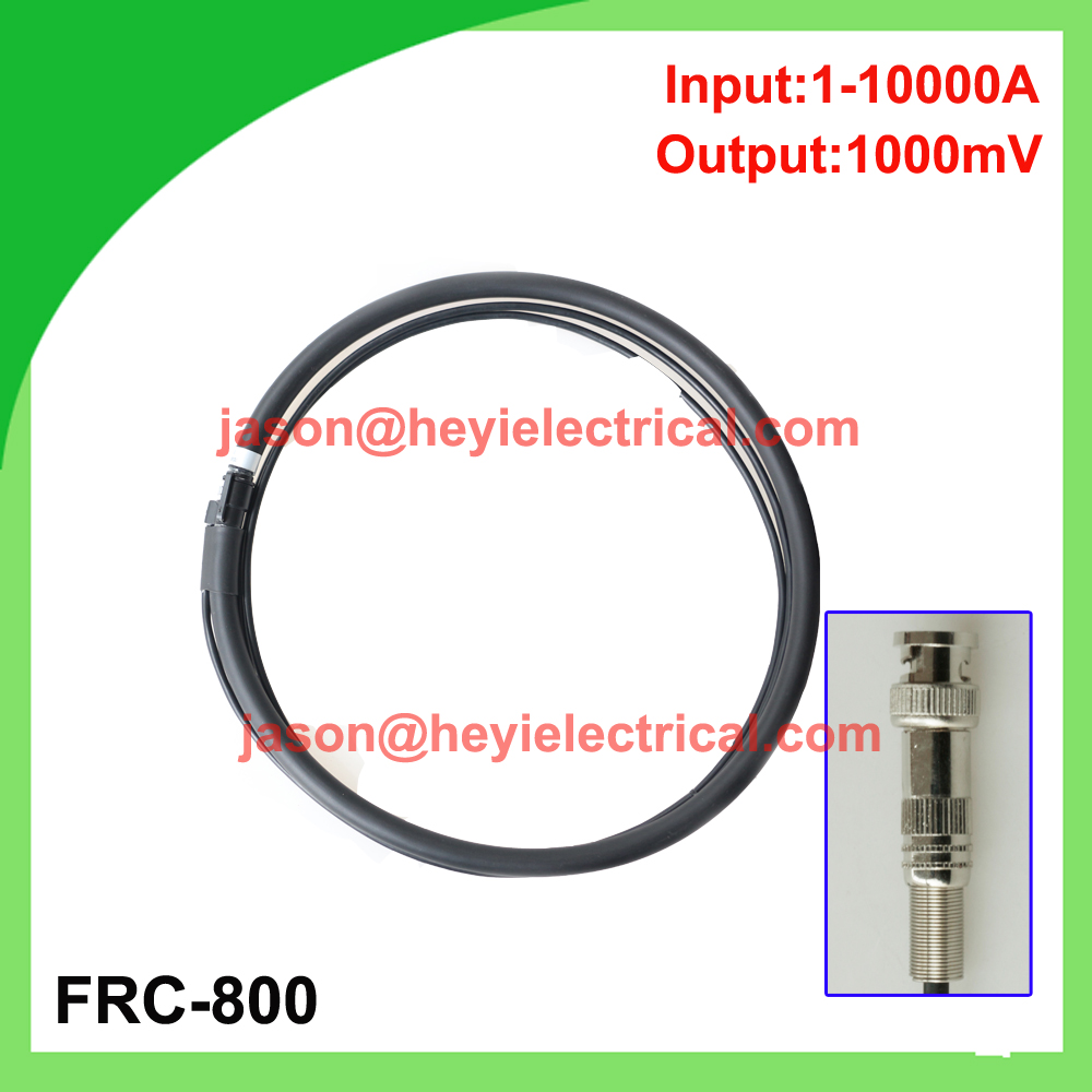 input 10000A FRC-800 flexible rogowski coil with BNC connector output 1000mV split core CT input 5000a frc 600 flexible rogowski coil with bnc connector output 500mv split core current transformer