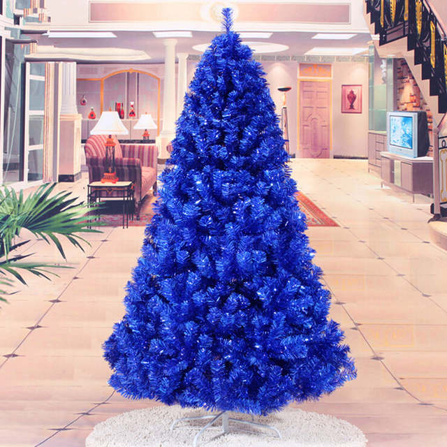 Us 189 0 Christmas New Year Gift 1 8m 180cm Navy Blue Christmas Tree Ornaments Christmas Gift Ornaments Supplies In Trees From Home Garden On