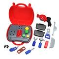 19 unids/set constructor de simulación caja de herramientas conjunto de herramientas de plástico los niños del cabrito cosplay construcción constructor diy play house building toy kit
