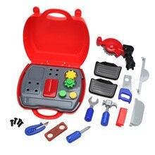 19pcs set Simulation Builder Tool Set Plastic Children Kid Cosplay Builder Construction Tool Box DIY Play