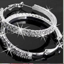 Hot Sale Fashion 1Pair New Crystal Rhinestone Exaggerated Lu