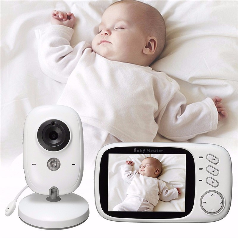 3.2 Inch Wireless LCD Audio Radio VB603 Baby Sleeping Monitor Music 2 Way Audio Talk Camera Night Vision Portable Babysitter baby sleeping monitor night vision 2 way talk lullaby temperature monitor 2 4 inch lcd digital wireless nanny radio babysitter