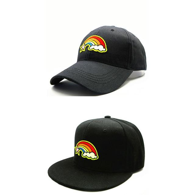LDSLYJR 2018 rainbow embroidery cotton Baseball Cap hip-hop cap Adjustable Snapback  Hats for kids 1bb9e8e046c