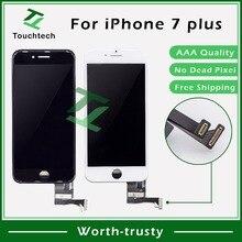 50 шт./лот AAA++ 5,5 дюймов для Apple iPhone 7 Plus ЖК-дисплей стекло в сборе с сенсорным экраном дигитайзер B/W замена DHL