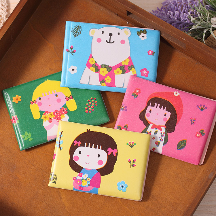 YL139 factory direct sales girl certificate <font><b>set</b></font> of lovely <font><b>flowers</b></font>, Japan and South Korea cartoon girl driver's license card hold