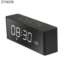 LP-06 Bluetooth Alarm Speaker 3D Sound Surround Wireless Stereo Speakers Portable Hands-free  Receiver Support TF FM AU