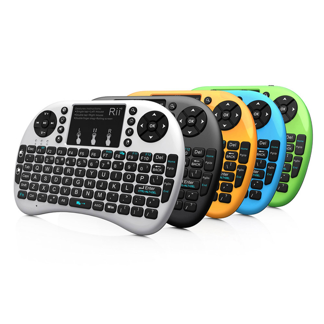 77233618a60 Rii i8+ 2.4G Mini Wireless Keyboard with Backlit Backlight Multi-touch  Touchpad US Layout Handheld for Andriod TV Box HTPC PC