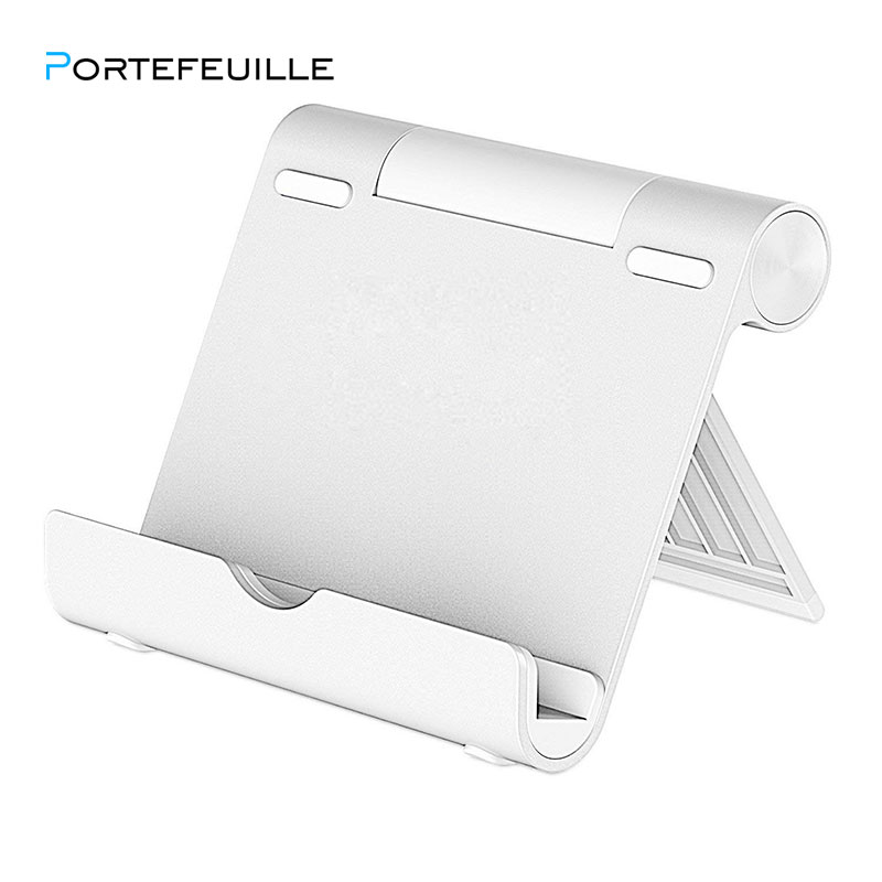 Portefeuille Stand For Tablet Smartphone Multi-Angle Portable Aluminum Holder For IPad 2018 Pro 12.9 Xiaomi Mi Pad 4 Plus Porta