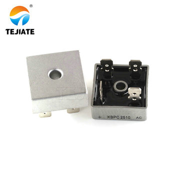 2PCS KBPC2510 2510 25A 1000V Phases Diode Bridge Rectifier New And Original bolt type zp300a 1000v spiral defence of the diode rectifier thyristor
