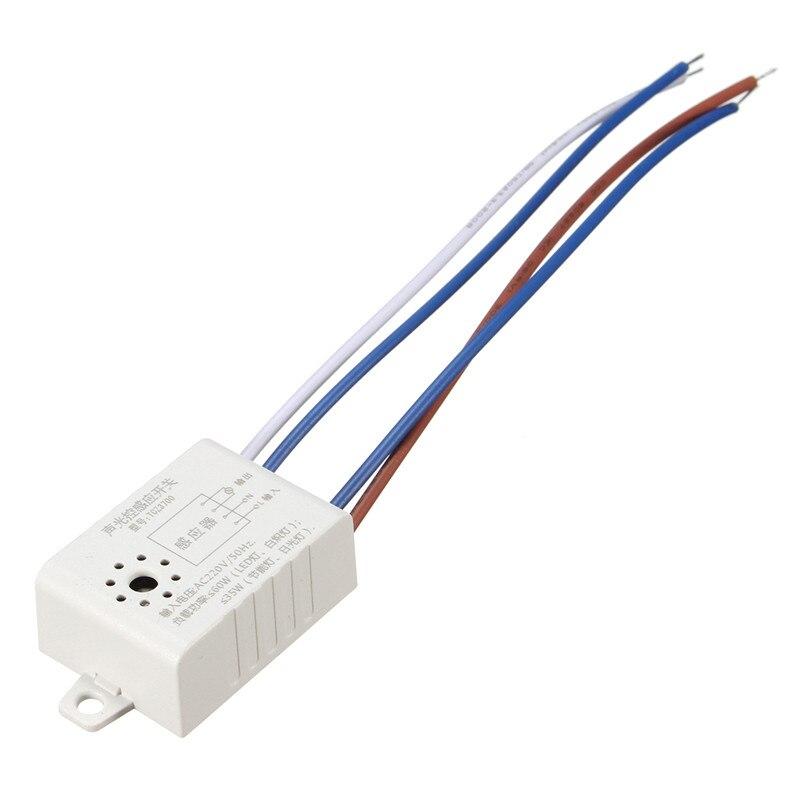 Commutateurs automatiques de contrôle de capteur de voix de son pour les lumières de LED, AC 220 V 50Hz incandescente, lampe économiseuse d'énergie, lampe fluorescente