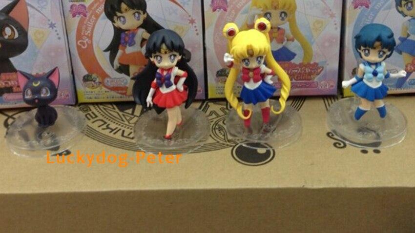 4pcs//set Anime Sailor Moon PVC Figures Model Decoration Toys