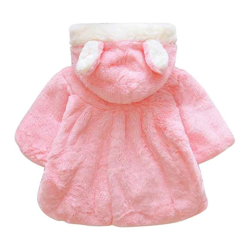 203fd9172a76 ... Baby Girl Jackets Winter Outerwear Et Velour Fabric Garment Lovely Bow  Coat for Baby Girls Kids ...