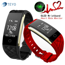 Teyo Sport Smart Band S2 Fitness Bracelet Pedometer Wristband Heart Rate Monitor IP67 Waterproof Smart Watch For Android IOS