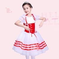Tùy chỉnh Made Vận Chuyển Miễn Phí giselle Red Spandex Leotard Váy Nhảy Múa Ba Lê cho Trẻ Em Khiêu Vũ Mặc Nông Dân Ballet Tutu Nhạc Jazz Trang Phục