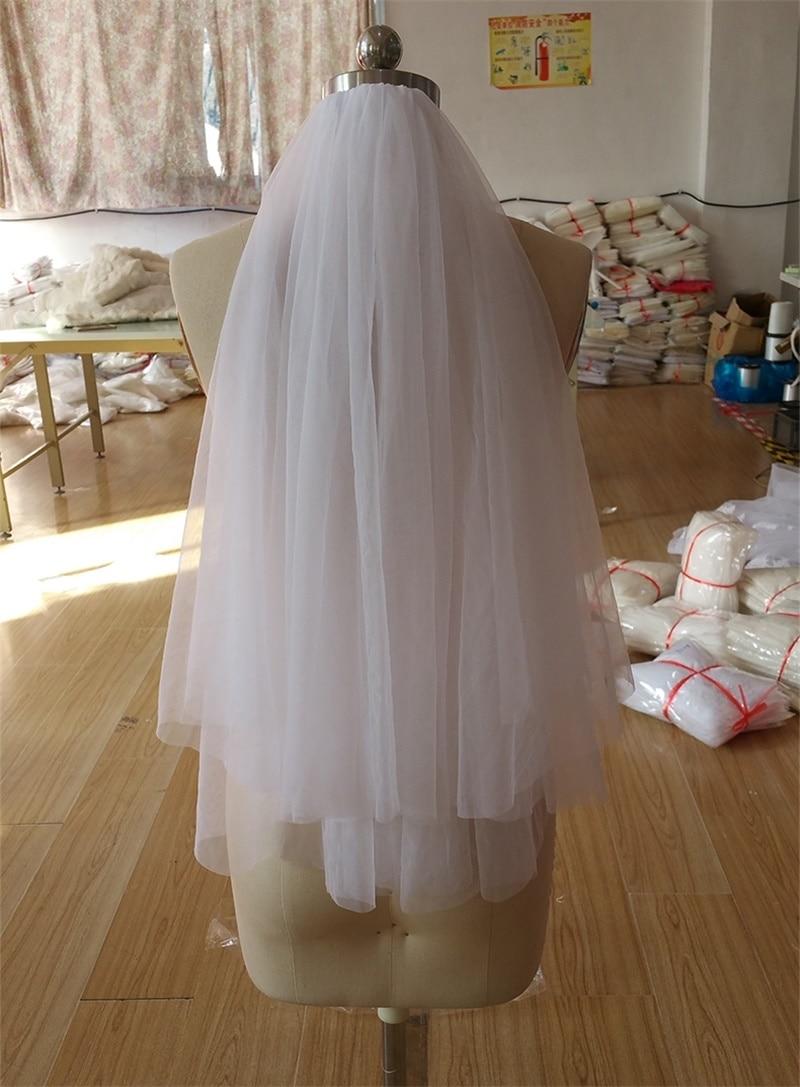 06fd620946 Nuevo velos de novia con borde de corte blanco dulce princesa Marfil boda  accesorios 2 capas de tul velo con peine en Velos de novia de Bodas y  eventos en ...