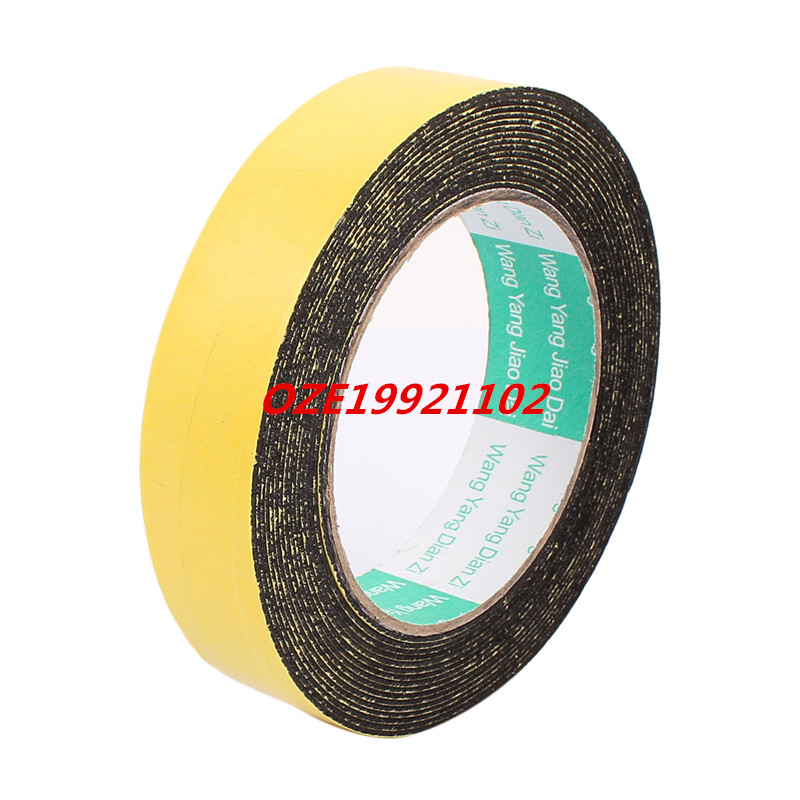 25mm x 1mm Single Side Self Adhesive Shockproof Sponge Foam Tape 5 Meters Length 2pcs 2 5x 1cm single sided self adhesive shockproof sponge foam tape 2m length