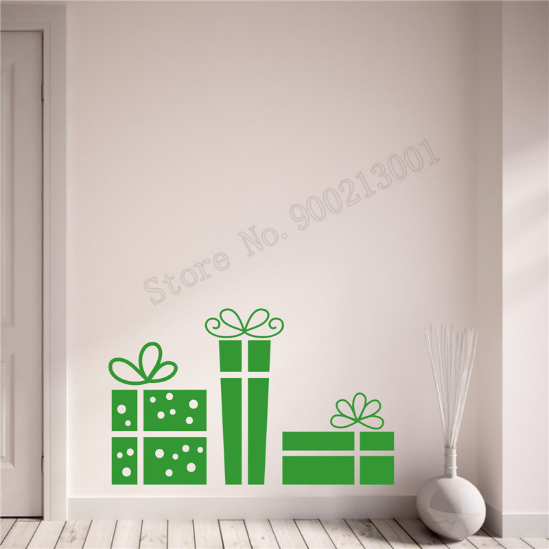 Wall Decoration Festival Sticker Vinyl Removeable Poster Gifts Decal Merry Christmas Ornament Presents LY577
