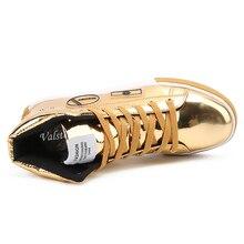 Men's Metallic Leather Sneakers