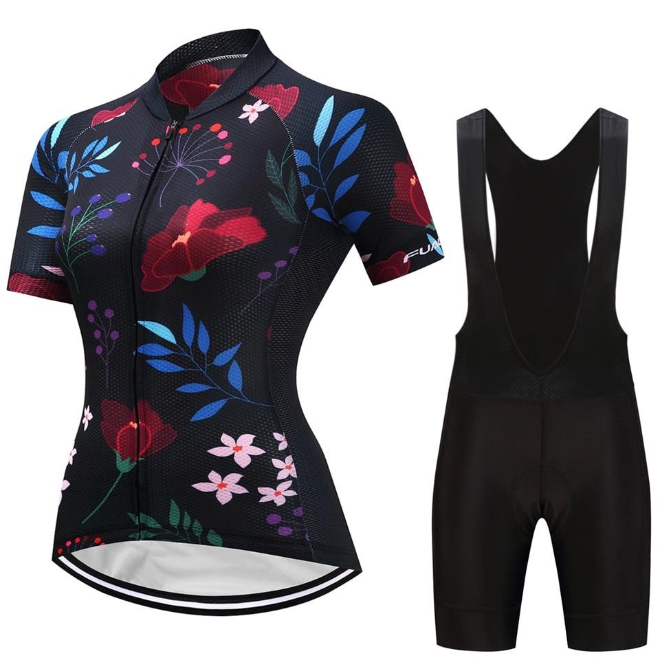 2018 Women Cycling Jersey Feminino Ropa Maillot Ciclismo Short sleeve cycling clothing Bike Jersey Silica GEL Pad Shorts For MTB mtb bike clothing women cycling cycling shorts and jersey - title=