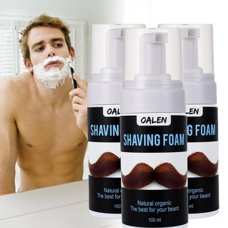 1pc Shaving Foam For Men For All Skin Shaving Cream Soften Beard Reduce Friction Cleaning Pores Control Oil No Stimulation Hot