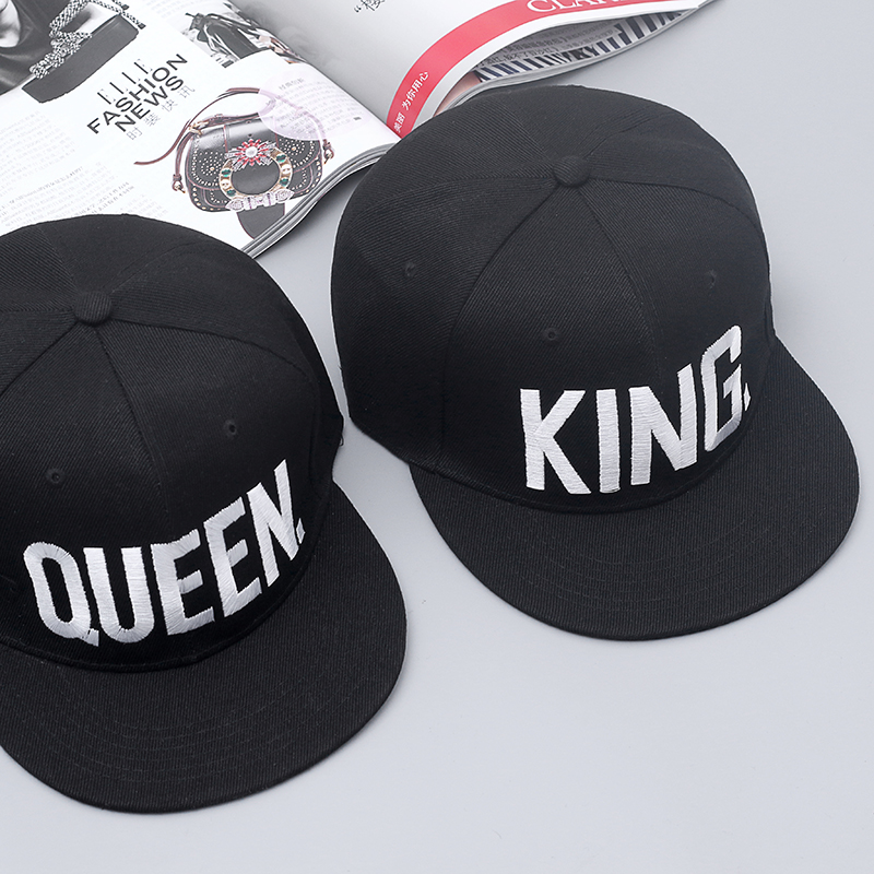 ef0b93e3d0e Hot Sale KING QUEEN Embroidery Snapback Hat Acrylic Men Women Couple  Baseball Cap Gifts Fashion Hip hop Caps-in Baseball Caps from Apparel  Accessories on ...