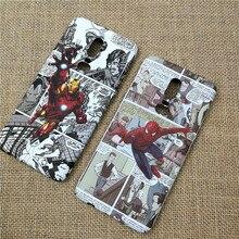 luxury Luminous hard phone cover case for Oneplus 5 5T 6 6T coque fundas matte plastic iron Man Spiderman Hulk Batman cases capa