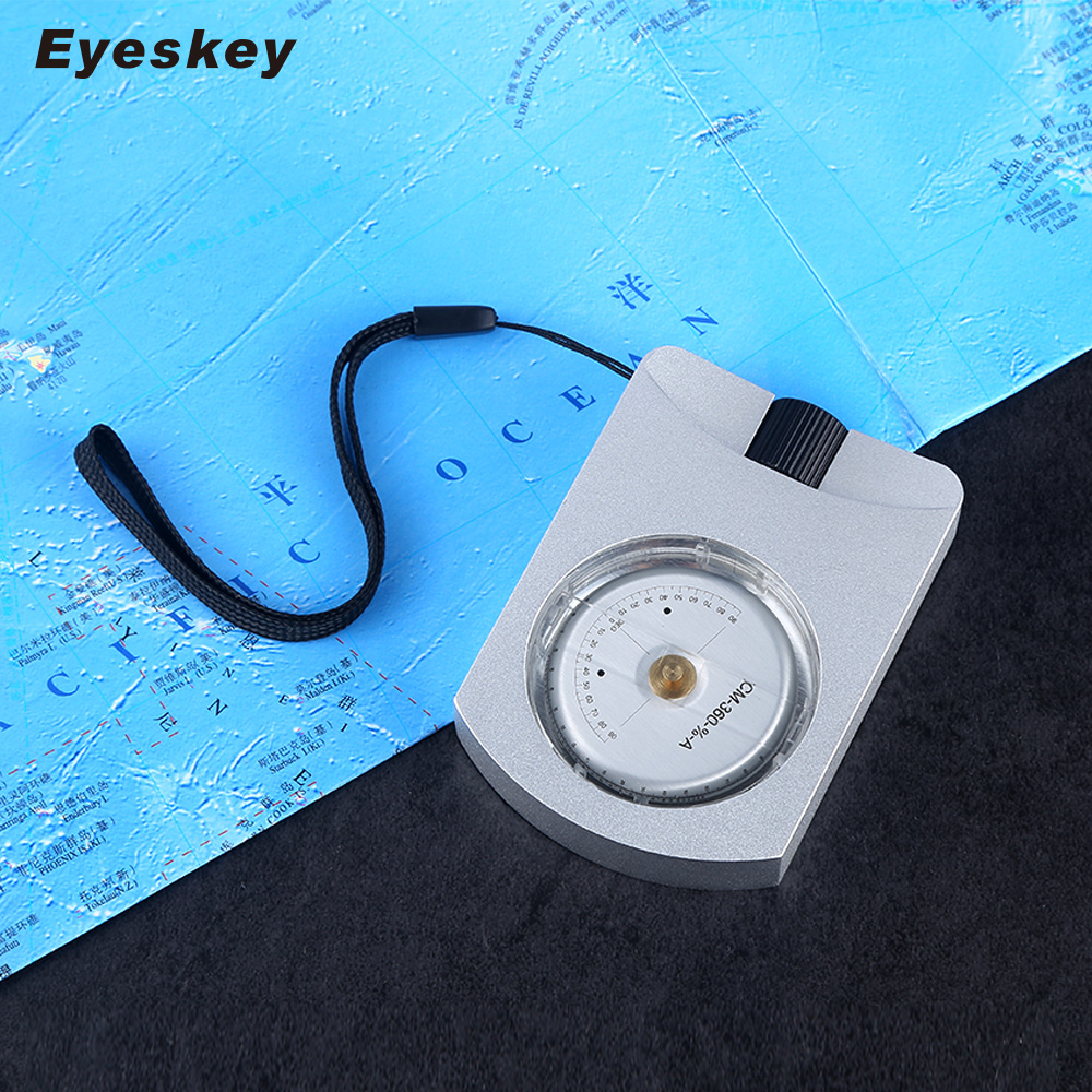 Eyeskey Professional Waterproof Clinometer Survival Compass Height Measurement eyeskey professional aluminum sighting compass clinometer slope height measurement map compass waterproof