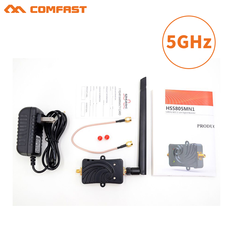 5Ghz 5W 802.11n SMA Wireless Wifi Signal Booster Repeater Broadband Amplifiers with antenna for Wireless Router wireless adapter new 2pcs 5w 5 8ghz wifi wireless broadband amplifier plug and play 802 11b g n high power range signal booster for wifi router