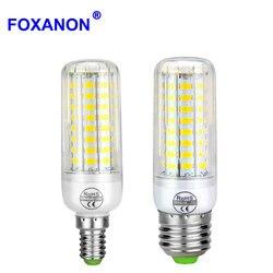 Длительный срок службы E27 E14 220V Светодиодная лампа кукурузы высокой температуры PCB охлаждения 24/30/64/80 светодиодов лампочки для внутреннего о...