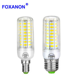 Длительный срок службы E27 E14 220V Светодиодный лампа Кукуруза от высокой температуры PCB охлаждения 24/30/64/80 светодиодный s светильник лампы для ...