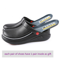 Men's Professional Chef Shoes Casual Flat Work Shoe Unisex Breathable Non Slip and Wear Resistant Kitchen Cook Working Shoes
