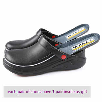 Men's Professional Chef Shoes Casual Flat Work Shoe Unisex Breathable Non-Slip and Wear-Resistant Kitchen Cook Working Shoes - DISCOUNT ITEM  30% OFF All Category