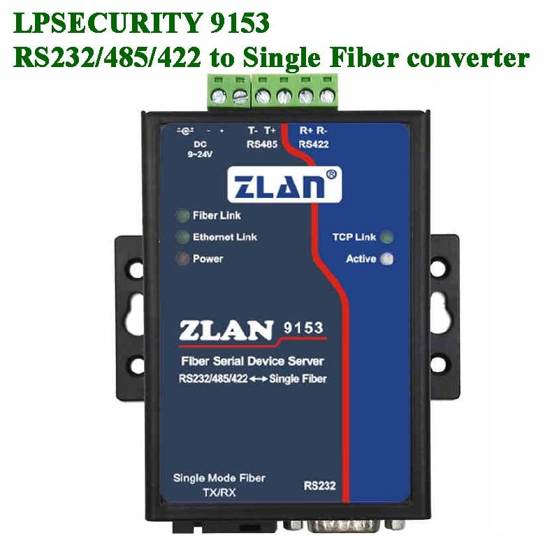 Optical Fiber Serial Device Server RS232 RS485 RS422 Serial Port To Single-mode Single-fiber Data Transmission Photoelectric