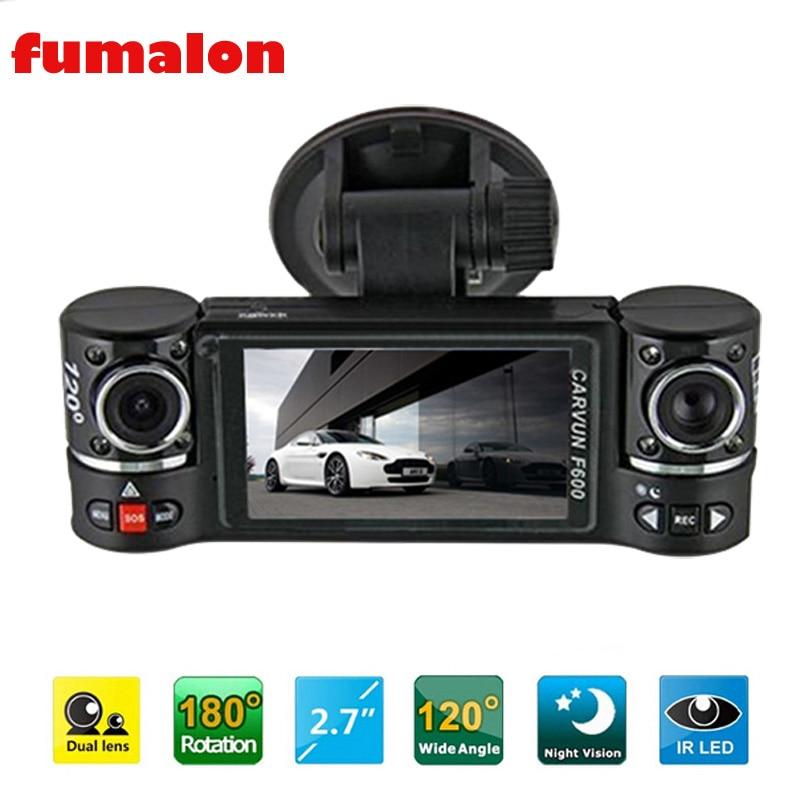 Dual Lens Car Camera Vehicle DVR Dash Cam Two Lens Video Recorder F600Dual Lens Car Camera Vehicle DVR Dash Cam Two Lens Video Recorder F600