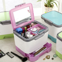 Makeup Organizers Hand Storage Bins Plastic Kit Cosmetics Storage Boxes 3 Colors