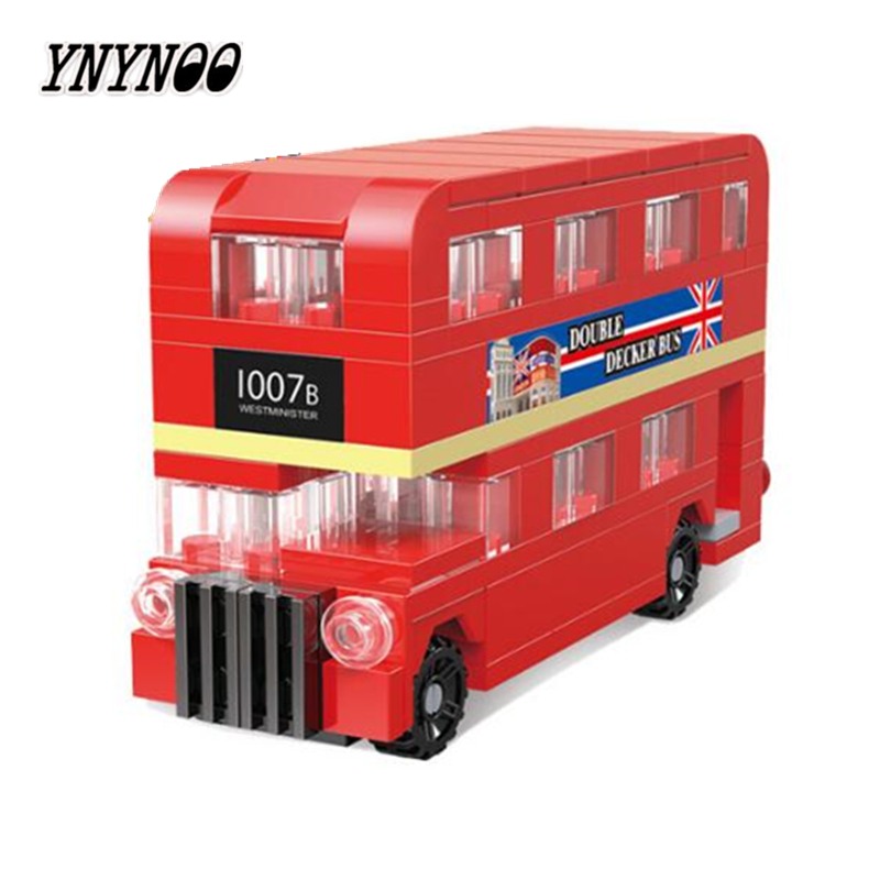 YNYNOO 116pcs 93206 United Kingdom Britain London Double-Decker Bus Building Kit Blocks Bricks Toy For Gift similar 10258 lepin 21045 united kingdom britain london double decker bus building kit blocks bricks toy for gift 10258