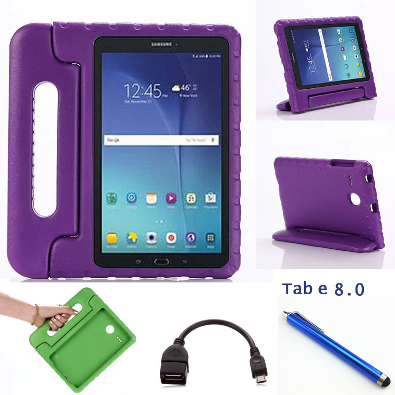 online store 76df2 1b4b3 fashion 3D Cartoon handles For samsung Tab E 8.0 T377 T375 Children cover  for samsung tab e T377A/V/P EVA Drop resistance case-in Tablets & e-Books  ...