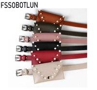 FSSOBOTLUN Women Waist Pack Femal Belt Bag Phone Pouch Bags Fashion Women Waist Packs For IPhone