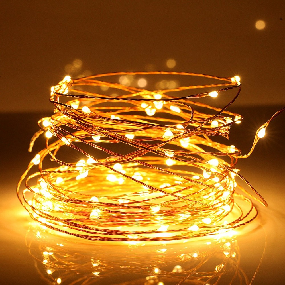 SPLEVISI 50M 164Ft 500 Led Light Copper LED Light String Light Starry - Pencahayaan perayaan - Foto 2